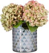relaxdays - glazen vaas met patroon - vloervaas - designvaas - decoratie - deco