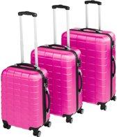 TecTake - kofferset Trolleyset 3-dlg hardshell roze - 402671
