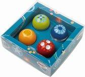 Mijn eerste knikkerbaan -Ontdekkersballen, set van 4