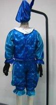 Sinterklaasfeest Pieten Verkleedkleren - Blauw - Maat 98-110