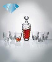 Kristallen whisky set Wave 1+6