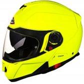 Motor/Scooter Helm SMK Glide Hi-Vision FLuo Geel met ECE 22-05 certificering M