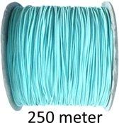 Elastisch koord dun 0,8mm, rol 250 meter, kleur mint