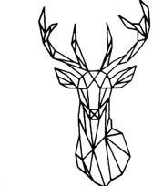 FBRK. Hert 80 x 47 cm Taupe - Geometrische dieren -Wanddecoratie