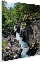 Soca-rivier in het Nationaal Park Triglav in Slovenië Plexiglas 20x30 cm - klein - Foto print op Glas (Plexiglas wanddecoratie)