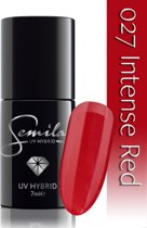 027 UV Hybrid Semilac Intense Red 7 ml.