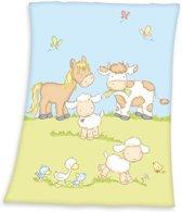 Baby Best Boerderij - Deken - 75x100 cm - Multi kleur