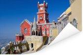 Pena Palace in Sintra Portugal Poster 90x60 cm - Foto print op Poster (wanddecoratie woonkamer / slaapkamer)