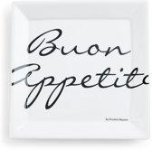 Rivièra Maison Buon Appetito Square Plate - Dinerbord - 22 x 22 cm - Wit
