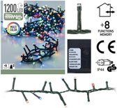 Gekleurde kerstlampjes microcluster 24 meter met 1200 LED-lampjes