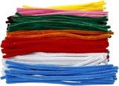 Chenille draad, dikte 9 mm, l: 30 cm, diverse kleuren, 200div