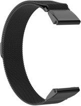 Just in Case Milanees armband voor Garmin Fenix 6 - Zwart