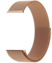 Milanese Loop Armband Voor Apple Watch Series 4 40 MM Iwatch Metalen Milanees Horloge Band - Rose Goud Kleurig