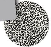 Muismat Luipaardprint| Muismat Rond Rubber | Mousepad 20 x 20 cm |