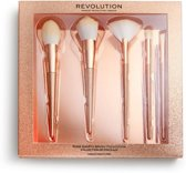 Precious Stone Brush Set Rose Quartz