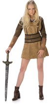Bruin Viking kostuum voor vrouwen  - Verkleedkleding - Large
