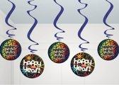 Hangdecoratie disco happy new year - Oud & Nieuw versiering