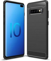 Samsung Galaxy S10 Plus hoesje - Rugged TPU Case - zwart