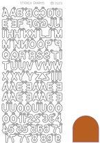 Sticker Charm ABC - Mirror Copper