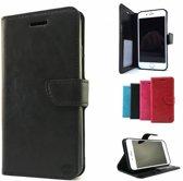 Zwart Wallet / Book Case / Boekhoesje iPhone 8 met vakje voor pasjes, geld en fotovakje