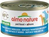 Almo Nature - Hondenvoer - Natvoer - Kabeljauw & Tonijn - Adult - 24 x 95 gram