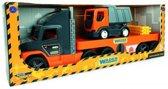 Super XL Vrachtwagen Oplegger met Kiepwagen Afm. 78 x 27,5 x 19,5 Cm