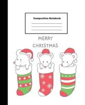 Merry Christmas Composition Notebook