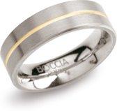 Boccia Titanium Ring 1 lijn bicolor - 0101-03
