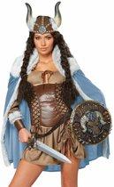 Sexy viking kostuum met cape voor dames - Volwassenen kostuums