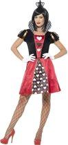 Miss Hartenkoningin Queen of Hearts  kostuum voor vrouwen   maat M ( 40 - 42 )