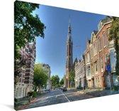 Kathedraal in het centrum van Groningen Canvas 30x20 cm - klein - Foto print op Canvas schilderij (Wanddecoratie woonkamer / slaapkamer) / Europese steden Canvas Schilderijen