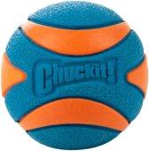 Chuckit Ultra Squeaker Ball Medium - Hond - Speelgoed - 6 cm - Oranje/Blauw