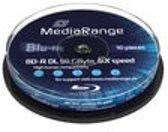 Bluray MediaRange 50GB 10pcs BD-R cake 6x Double Layer