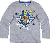 Paw Patrol T-shirt-met-lange-mouw-grijs - Maat 104