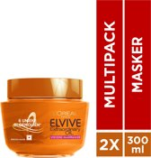 L'Oréal Paris Elvive Extraordinary Oil Haarmasker - 2 x 300 ml - Voordeelverpakking