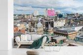 Fotobehang vinyl - Uitzicht over de Schotse stad Glasgow in Europa breedte 390 cm x hoogte 260 cm - Foto print op behang (in 7 formaten beschikbaar)