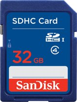 SanDisk SDHC kaart 32 Gb