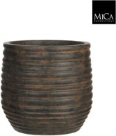 Mica Decorations pot rond magnus maat in cm: h27 d28.5 donkerbruin