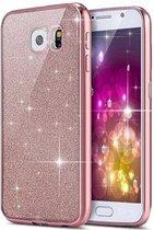 Samsung Galaxy S7 glitters hoesje - Roze BlingBling