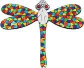 Wanddecoratie Libelle met glasmozaiek