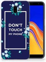 Samsung Galaxy J6 Plus (2018) TPU Hoesje Flowers Blue DTMP