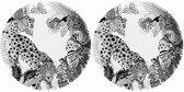 GINGER Leopard - Ø 20 cm - melamine - 2 borden