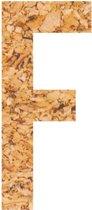 Kleefletter - plakletter - prikbord - kurk - vegan - letter F - 10 cm hoog