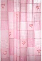 Taftan - Gordijn ruitjes patch 145 x 280 cm  -  Roze