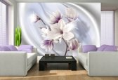 Fotobehang Bloemen, Magnolia   Paars   104x70,5cm