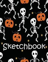 Sketch Book: Halloween Large Notebook 8.5'' X 11'' for Artist Practice Drawing, Write, Doodle, Journal, Creative Diary, Blank Paper D