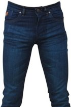 Hakkers Paris - Heren Jeans - Green Wash - Slim Fit - Stretch - Lengte 34 - Donker Blauw