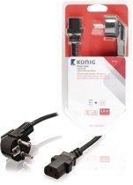 Schuko Power Cable Angled Schuko Male - IEC-320-C13 5.00 m Black