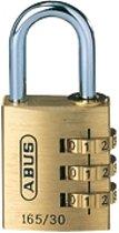 ABUS Combi-cijferslot Serie 165, 3 cijfers, beugelhoogte 26 mm