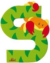 Sevi Letter S schorpioen 10 cm groen